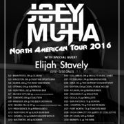 Joey Muha's North American Tour 2016 – Ticket Giveaway
