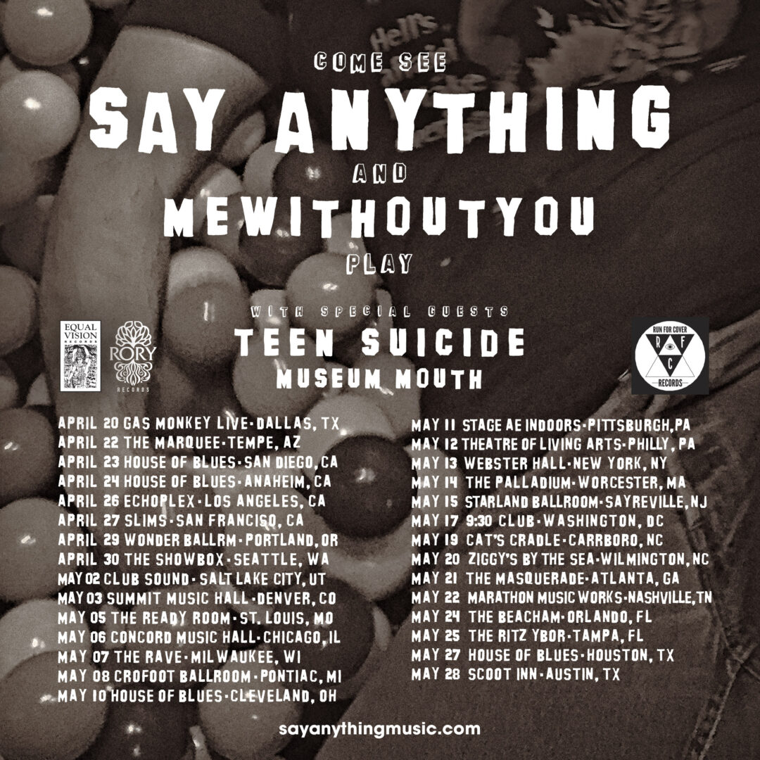 Say Anything - 2016 U.S. Tour - 2016 Tour Poster