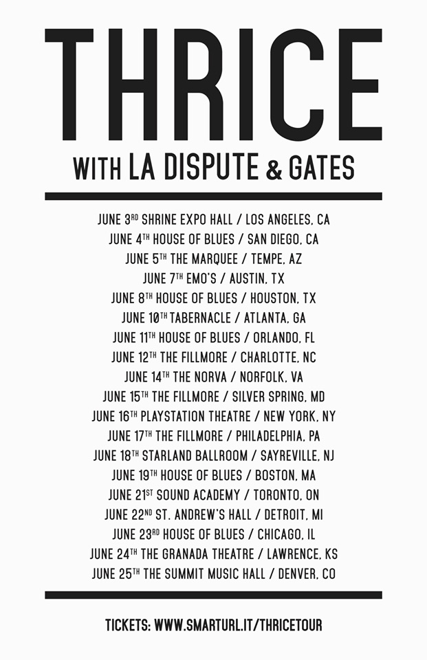 Thrice - Summer Headlining Tour