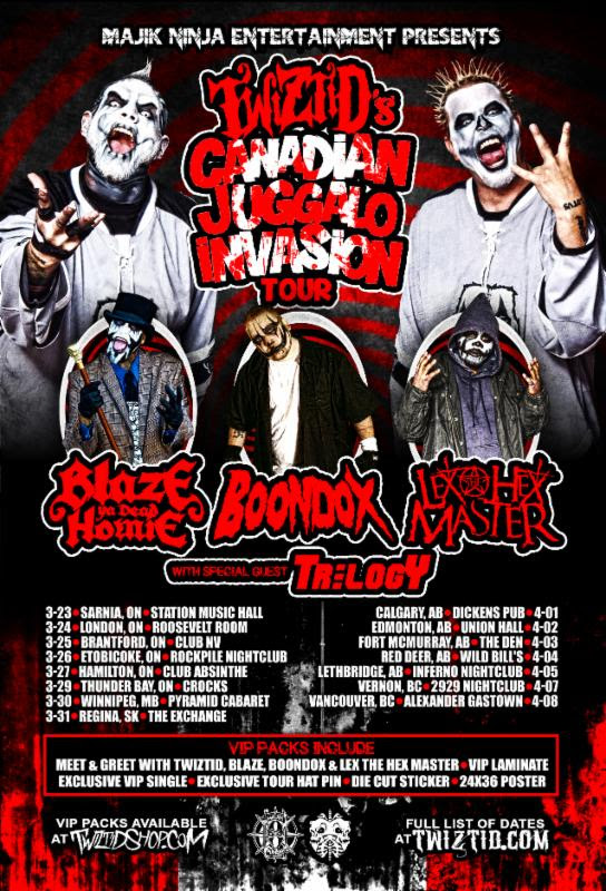 Twizted - Canadian Juggalo Invasion Tour - poster