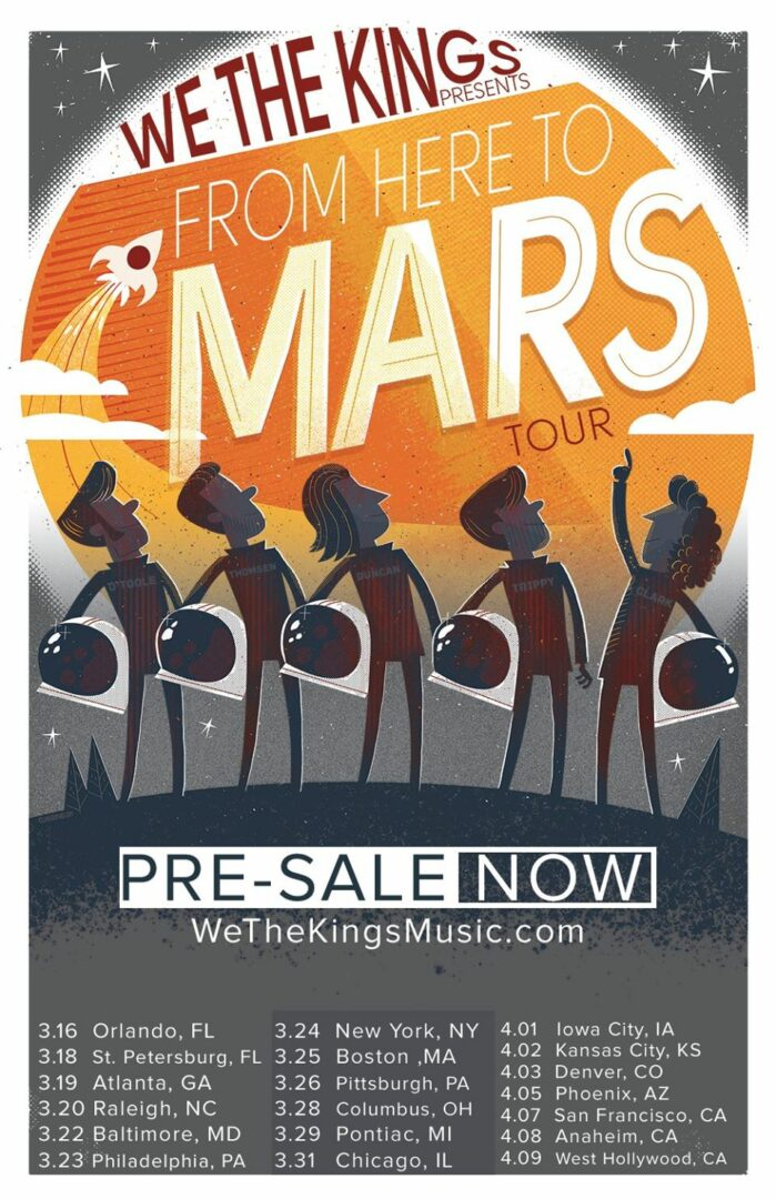 We The Kings - From Here To Mars Tour - poster