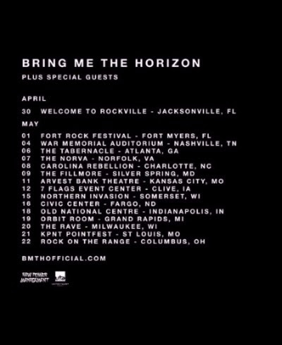 Bring Me the Horizon - 2016 Spring U.S. Tour - 2016 Tour Poster