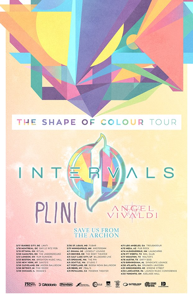 Intervals-The Shape of Colour tour-poster