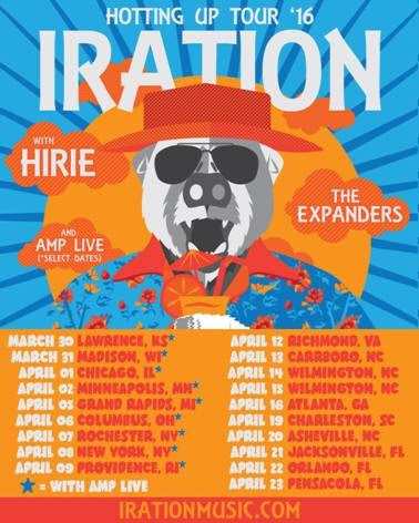 Iration - Hotting Up US tour - poster