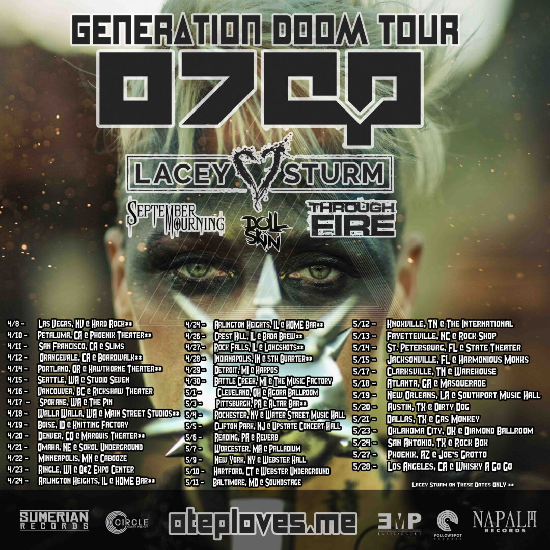 Otep - North American Generation Doom Tour - 2016 Tour Poster