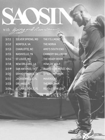 Saosin - March U.S. Tour - 2016 Tour Poster