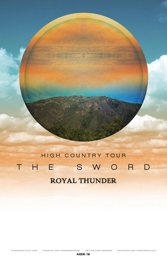 The Sword - North American High Country 2016 Tour - 2016 Tour Poster