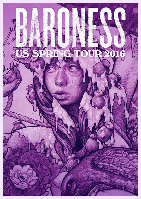 Baroness - US Spring Tour 2016 - poster