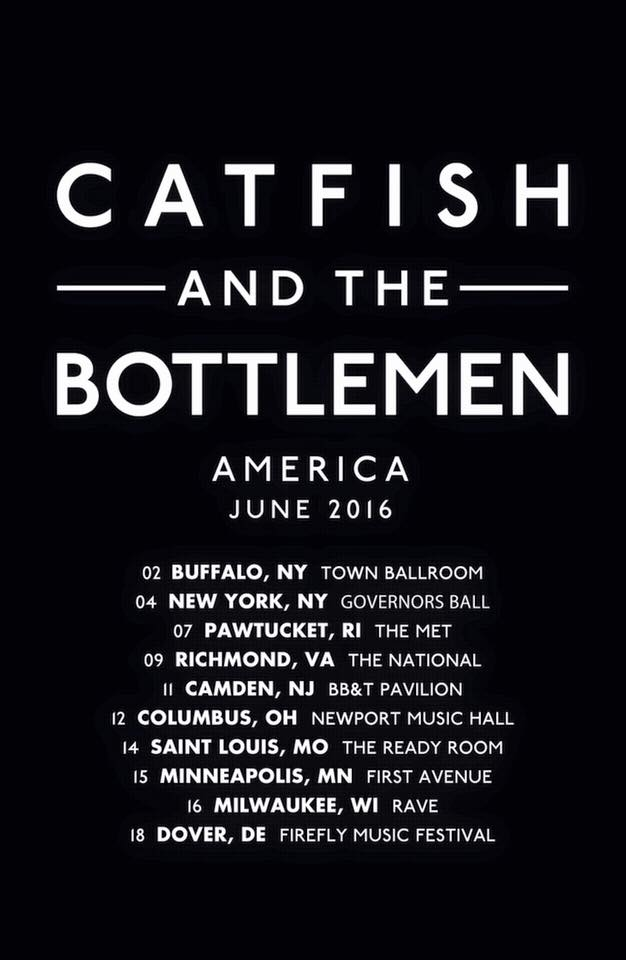 Catfish and the Bottlemen - U.S. Tour - poster