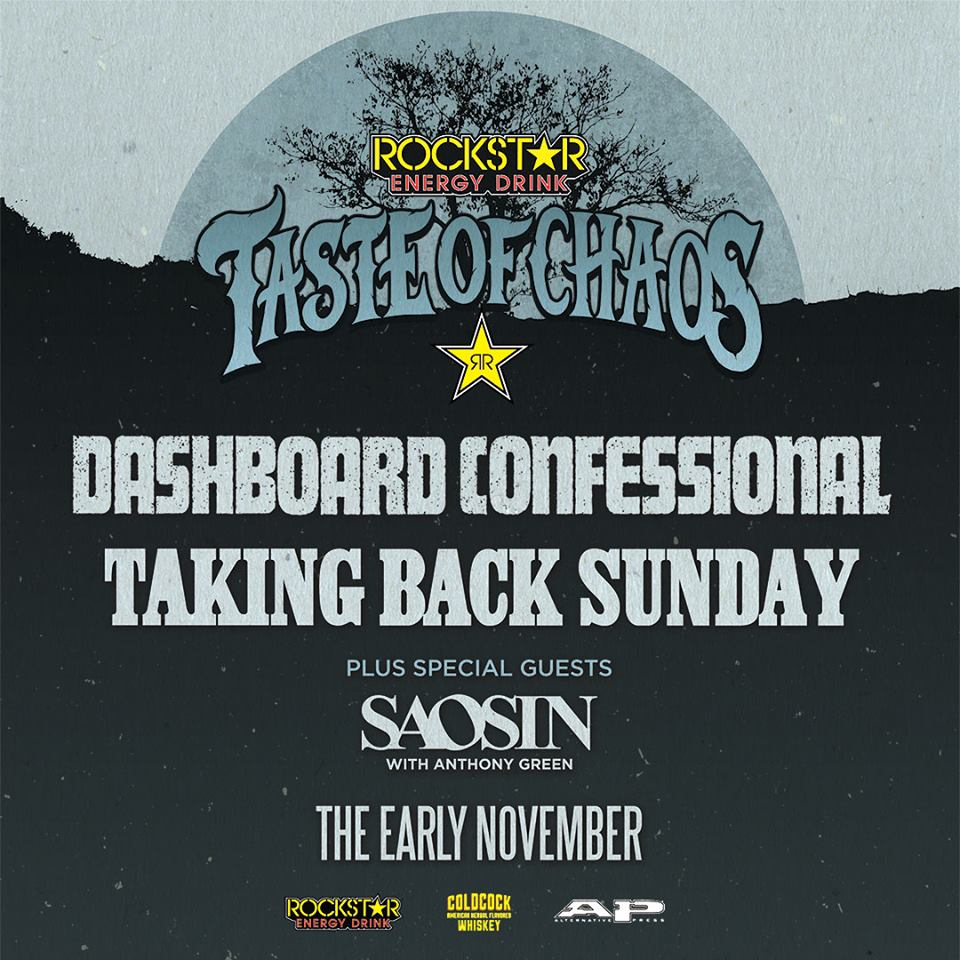 Dashboard Confessional - Taste of Chaos Tour - poster