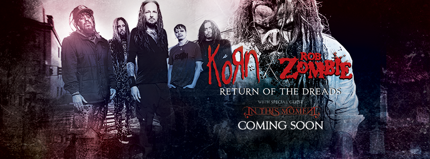 Korn & Rob Zombie - North American Return of the Dreads Tour - 2016 Tour Poster