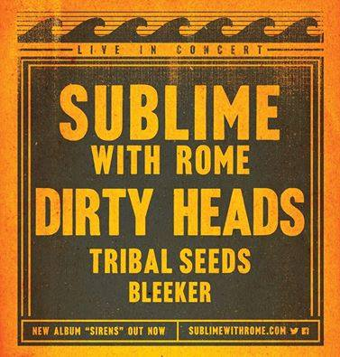 Sublime With Rome - U.S Summer Tour 2016 - poster