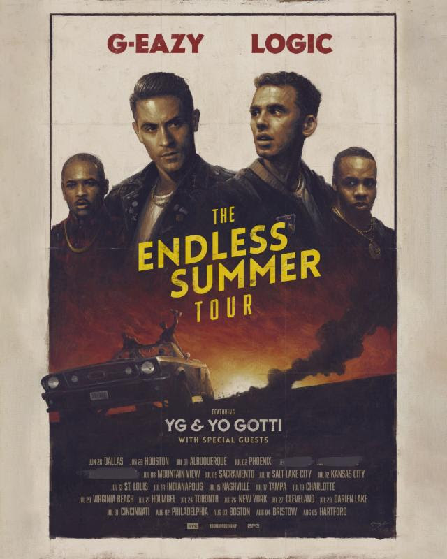 G-Eazy - The Endless Summer Tour - poster