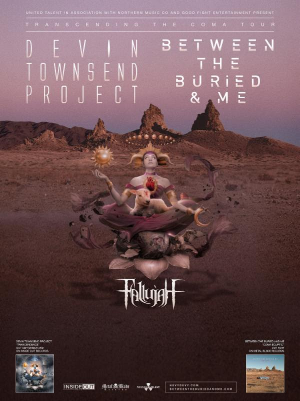 Between the Buried and Me - Transcending the Coma Tour - poster