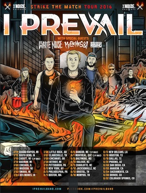 I Prevail - 2016 North American Tour - 2016 Tour Poster