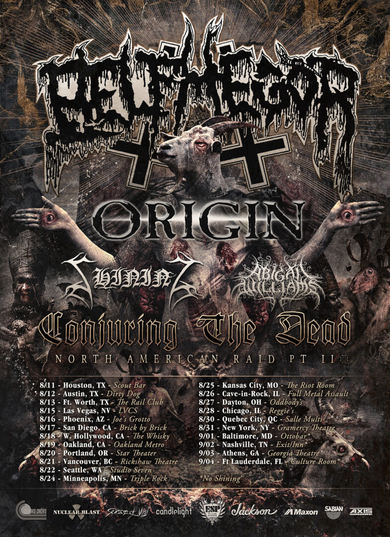Belphegor - North American Conjuring The Dead Tour - 2016 Tour Poster