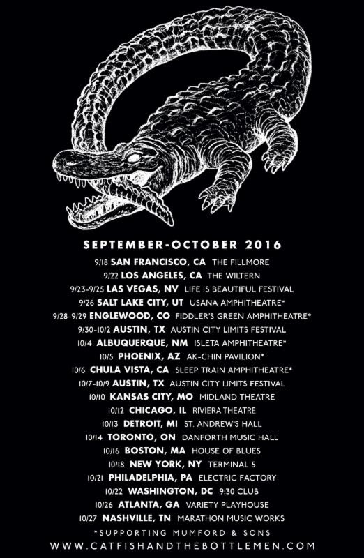 Catfish and the Bottlemen - Fall North American Tour - 2016 Tour Poster