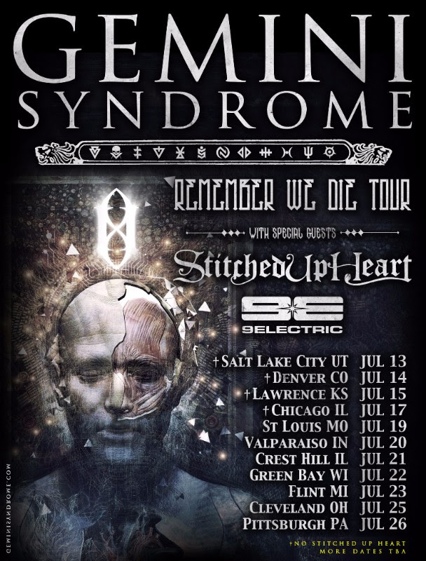 Gemini Syndrome - U.S. Remember We Die Tour - 2016 Tour Poster