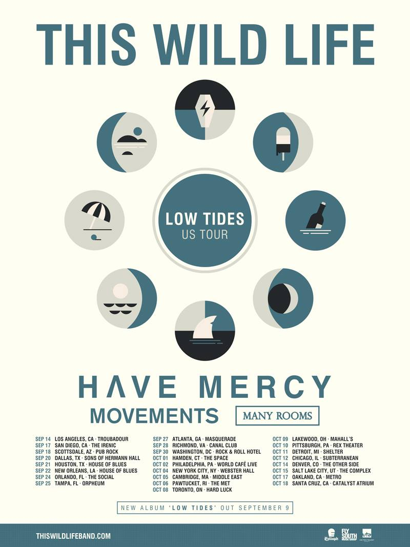 This Wild Life - North American Low Tides Tour - 2016 Tour Poster