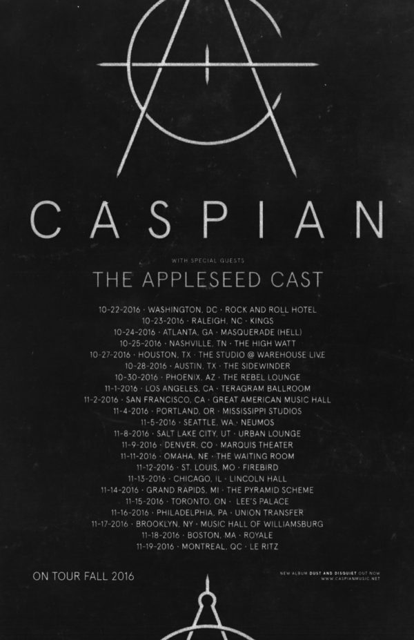 Caspian - North American Fall Tour - poster