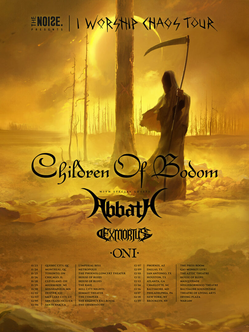 Children Of Bodom - North American I Worship Chaos Tour Poster - 2016 Tour Poster