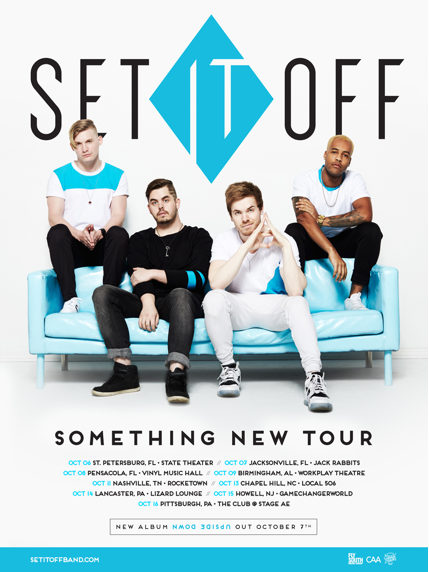 Set It Off - Something New Tour - poster