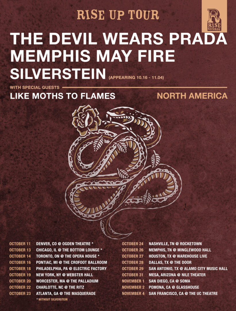 The Devil Wears Prada - Rise Up Tour - poster