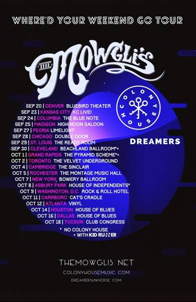 The Mowgli's - North American Where'd Your Weekend Go Tour - 2016 Tour Poster