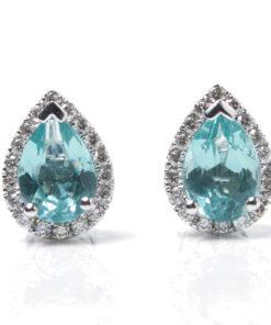 Apatite Diamond Earrings