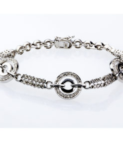 CIRCLE DIAMOND BRACLET