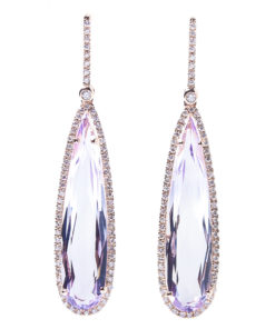 Elongated gemstone earings