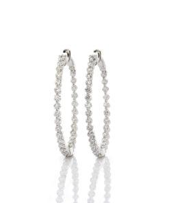 Inside Out Diamond Hoops Earrings 4.00ct