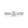 18k Round Micro Pave Diamond Ring 1.78 CTW