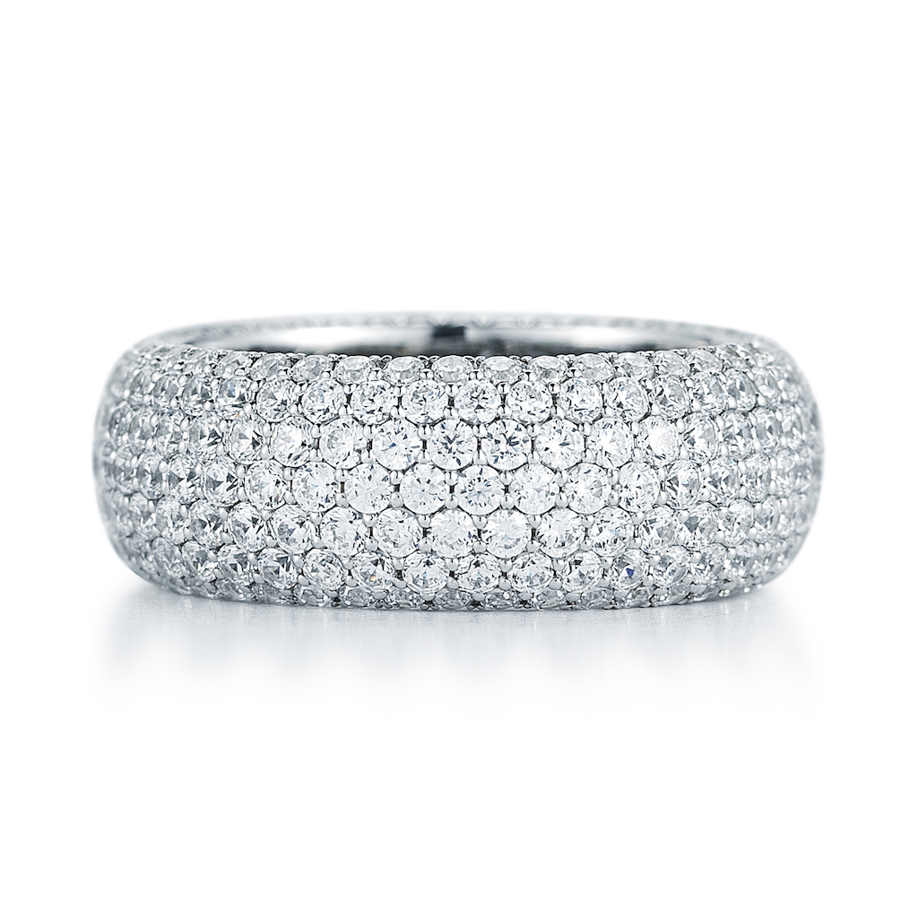 18k Round Micro Pave Diamond Eternity Band 2.33 ct