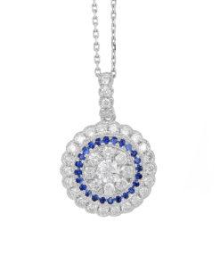 14k DIAMOND & SAPPHIRE PENDANTMaddaloni Jewelers Long Island Jewelery