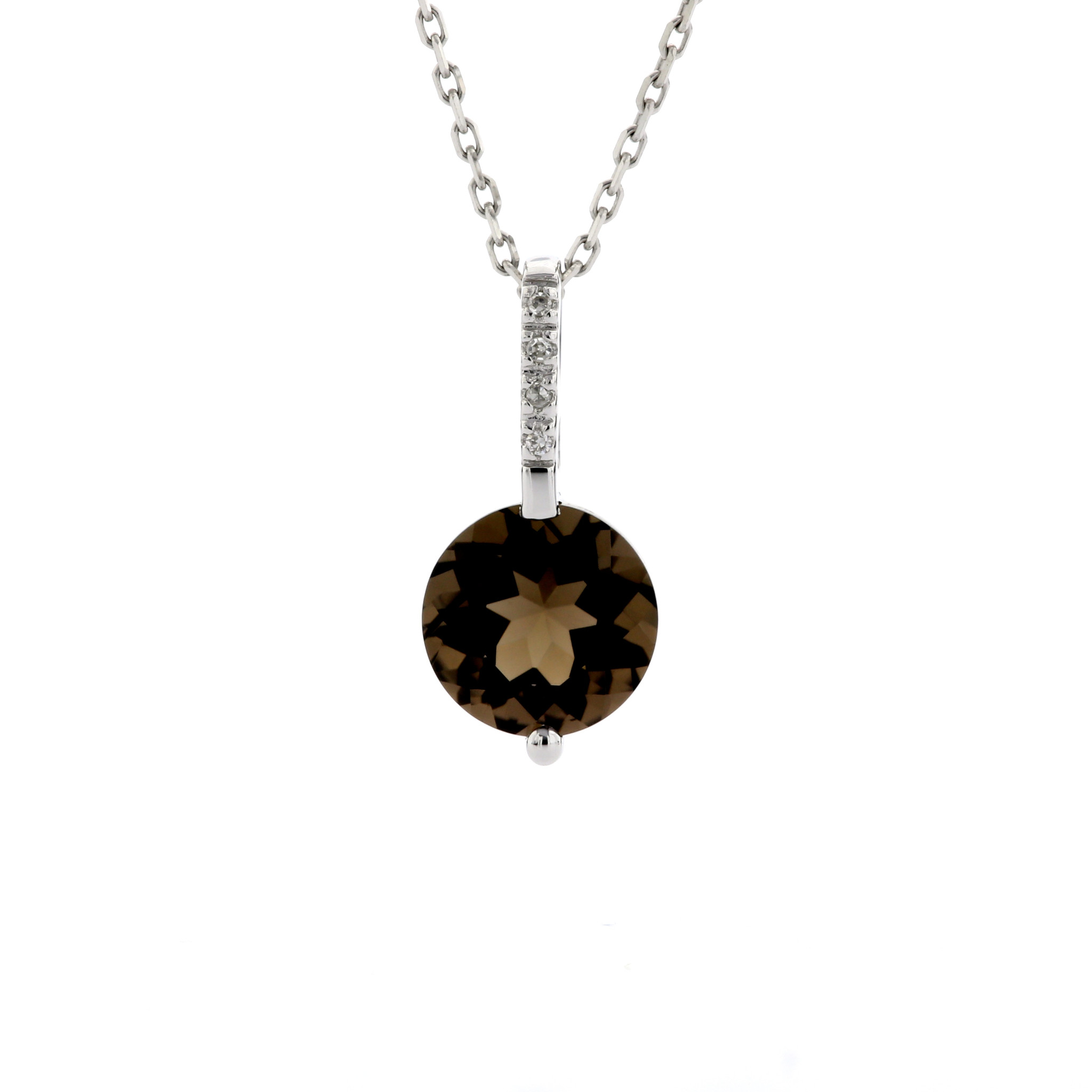 14k OVAL DROP PENDANT WITH DIAMOND BAIL Maddaloni Jewelers long island Jewelery