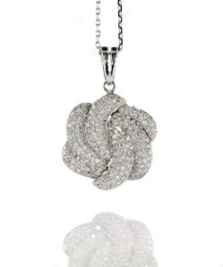18k DIAMOND PUFFY SWIRL PENDANT