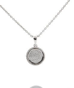 14k ROUND BEZEL DIAMOND PENDANT Maddaloni Jewelers Long Island Jewelry
