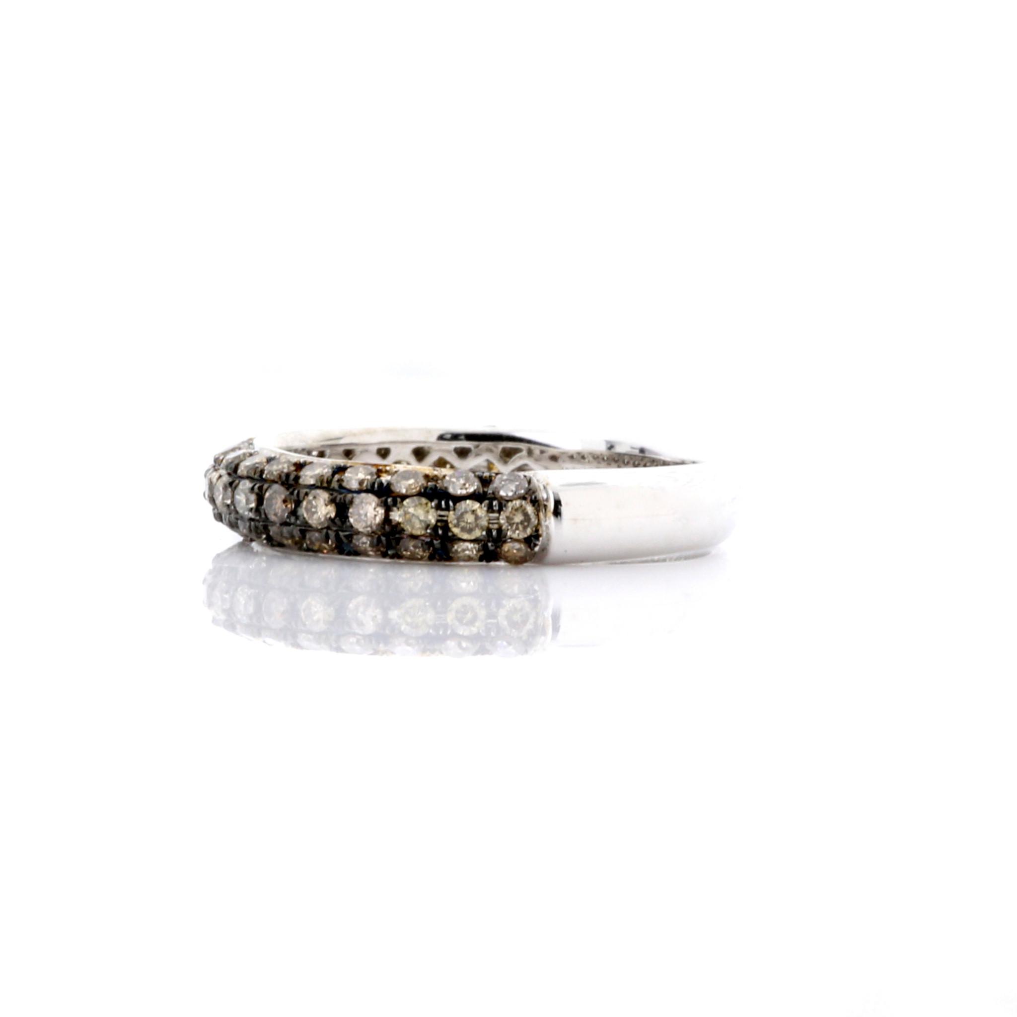 18k Rose Gold BROWN DIAMOND BAND RING 0.92ct Maddaloni Jewelers Long Island Jewelry