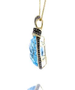 14K Blue Topaz Pendant Maddaloni Jewelers