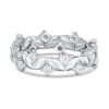 This uniquely designed 14k Diamond Anniversary Ring features 16 round diamonds 0.050ct Maddaloni Jewelers