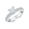 14k White Gold Engagement Ring .32ct