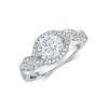 14k White Gold Engagement Ring .22ct