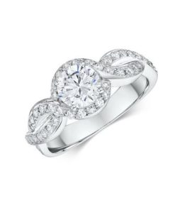 14k Diamond Engagement Ring Featuring 52 0.10ct Round Cut Diamonds Total .52ct (Center Stone Not Included)