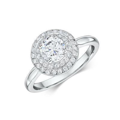 14k White Gold Diamond Engagement Ring 0.005ct