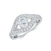 14k White Gold Diamond Engagement Ring .46ct