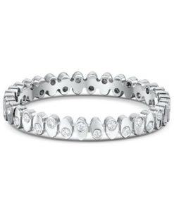 This 14k Diamond Anniversary Ring Features 34 White Round Diamonds 0.005ct