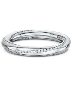 This 14k Diamond Wedding Band features 147 Round Cut Diamonds 0.005ct