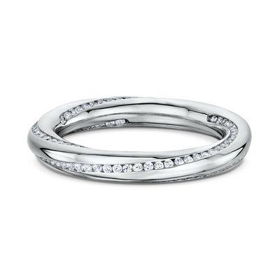 This 14k Diamond Wedding Band features 147 Round Cut Diamonds 0.005ct