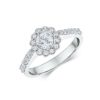 14k White Gold Diamond Engagement Ring 0.88ct